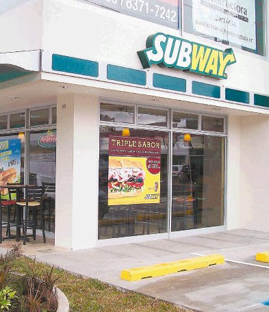 The Subway chain of restaurants in Costa Rica is targeting at least eight  more locations this year, with an investment of about US$1.6 million  dollars.