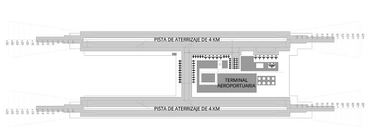 Preliminary design of the new international airport. Source: Aviación Civil