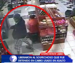 The video capture show one of the two assailants of a grocery story in Curridabat, where one of them shot an 8 month pregnant woman.