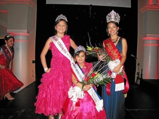The Costa Rica's beauty pageant ended with (from left) Allezon Bonilla (9) as Miss Chiquitica; April Sabrina Hernandez as Mini Miss Costa Rica, and Maria Priscilla Chavez (17) Miss Costa Rica- Trenton 2014. The pageant contestants ranged from 3 years old to 18 years old and the event was held at Rho Waterfront in Trenton on Sunday night. Trentonian Photo/CARLOS AVILA.