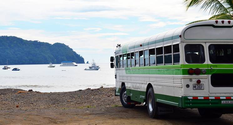Bus travel to and from beaches is economical, efficient and a great way to see the country and make friends.