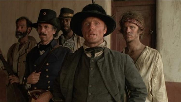 "Ed Harris plays the role of William Walker in ""Walker"" , the story of and the coup d'etat he staged in Nicaragua in 1856 at the behest of the wealthy industrialist Cornelius Vanderbilt (Peter Boyle), who needed the crucial trade route 'liberated' in order to build a dam there."