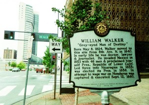 Walker's history is commemorated by this Nashville historical marker
