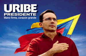 Uribe's 2002 campaign poster
