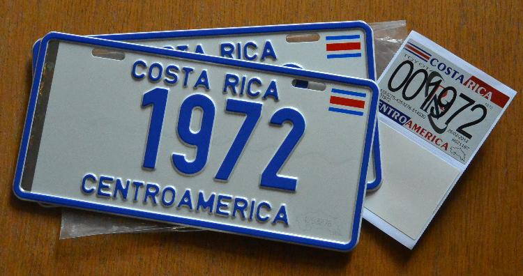 My new plates. Yes, there are still vehicles with only 2, 3, 4 and 5 number plates. Mine belong to a 1975 Land Cruiser FJ40 original.