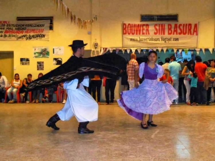 Gaucho dancers at the Pollution Festival in Bouwer, Argentina. Courtesy of Bouwer Sin Basura