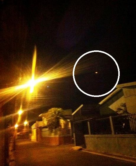 The white speck of light caught the attention of 66 year old Patricia Arrieta, who took this photo outside her home in Desamparados in the early morning of March 11, 2014