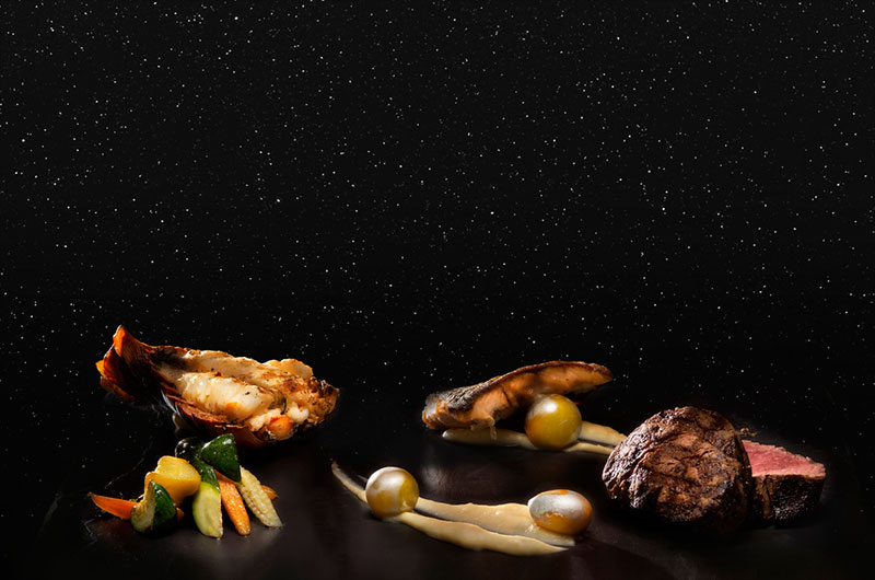 """The """"Taste The Stars"""" menu at the Four Seasons Resort in Costa Rica was developed with former NASA astronaut Franklin Chang Diaz. The dinner includes real meteorite sauce."""