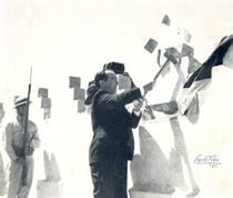 Source: The Arias Foundation President José Figueres Ferrer with a mallet, symbolizing the end of military rule, on Dec. 1, 1948