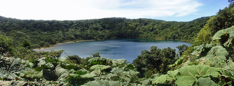 Lake Botos is an inactive crater within Poás Volcano National Park
