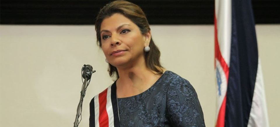 Laura Chinchilla was elected the first woman president of Costa Rica