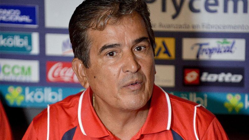 The coach of the Costa Rican national football team, La Selección, Colombian Jorge Luis Pinto.