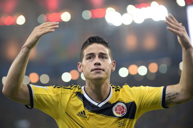 Colombia's James Rodriguez, the Word Cup 2014 leading scorer with five goals!