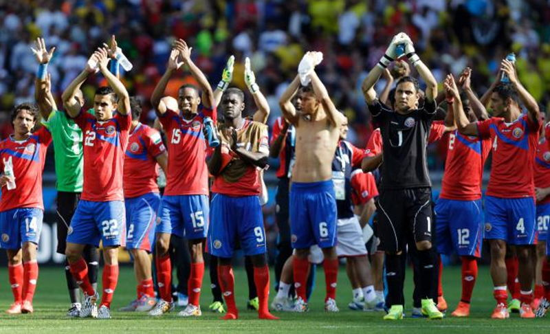 Costa Rica's La Sele finished first in Group D after tying England on Tuesday. Now they face Greece on Sunday in round of 16 play. (AP Photo/Fernando Vergara)