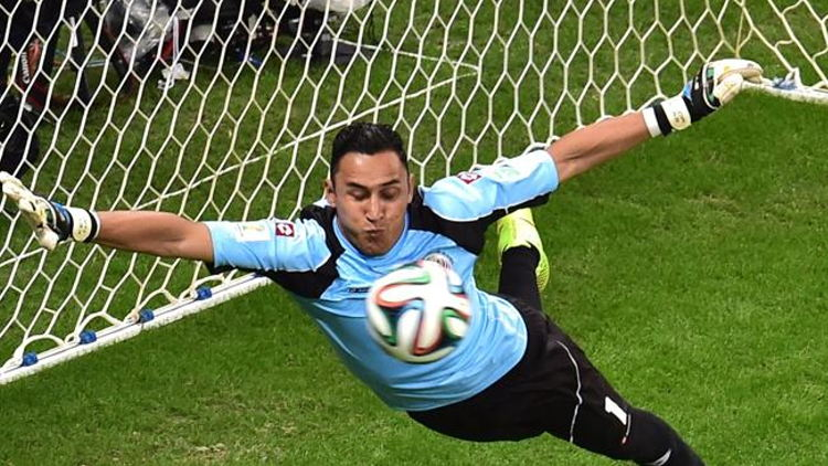 Keylor Navaswas spectacular for Costa Rica. Source: AFP