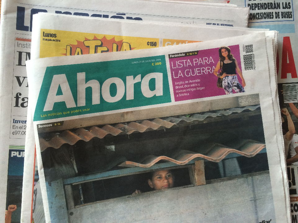 """Ahora"", a new newspaper launched this morning in Costa Rica."