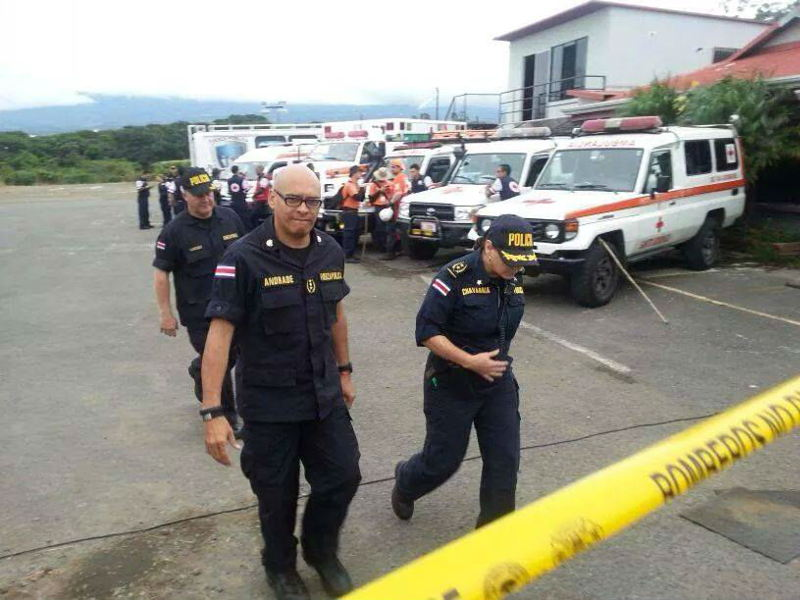 Juan José Andrade, director of the Fuerza Publica is personally leading the search efforts.
