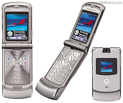 GSM Phone. Over the Motorola Razr's four-year run, the V3 model sold more than 130 million units, becoming the best-selling clamshell phone in the world to date.