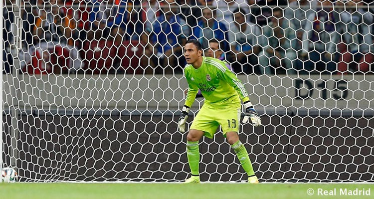 Costa Rica's Keylor Navas in his debut with the Real Madrid. | Photo: Keylor Navas official website / Real Madrid