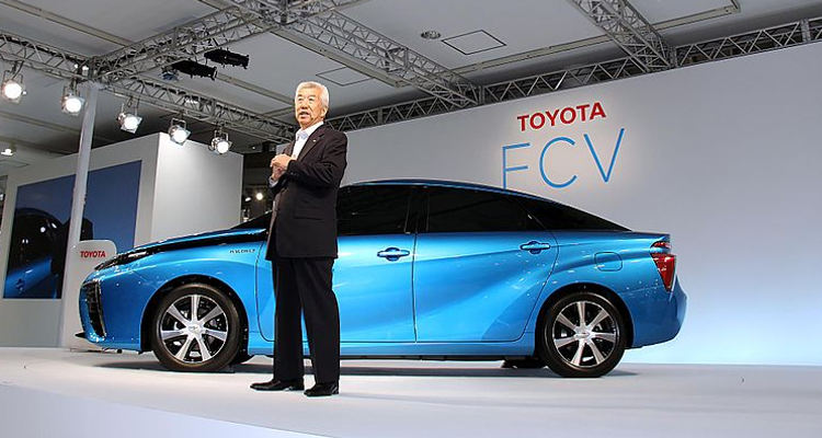 The 2015 Toyota FCV, one of the first hydrogen fuel cell vehicles to be sold commercially