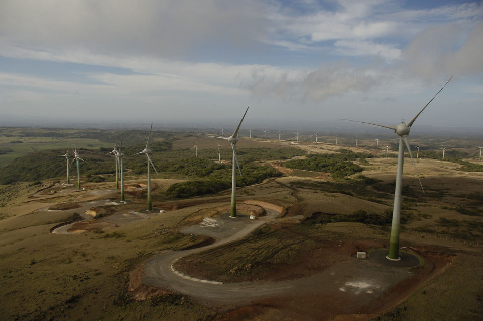Aerial photo of the Guanacaste wind farm. Photo: Juwi.com