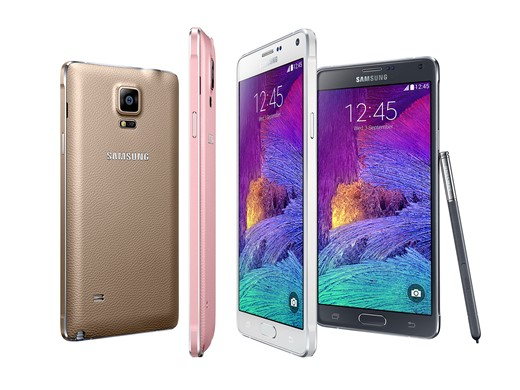 Prospective Galaxy Note 4 owners can choose from four colors