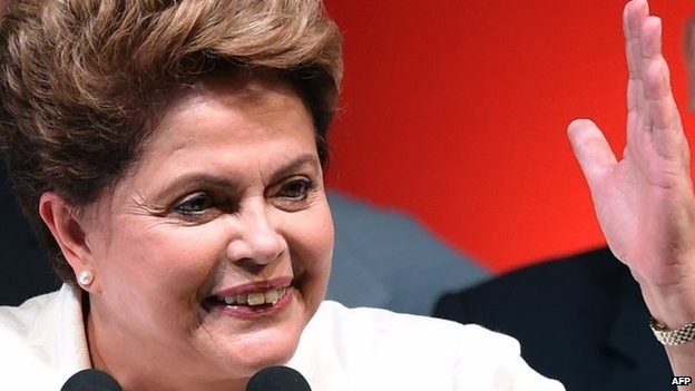 "Ms Rousseff said she wanted to be ""a much better president"" and promised political reform"