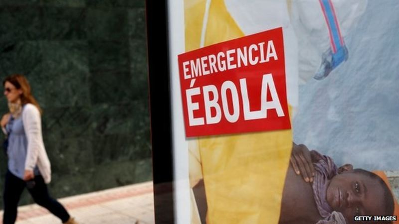 Warning messages about Ebola have appeared in public places in Spain. Nothing of the such is in place in Costa Rica.
