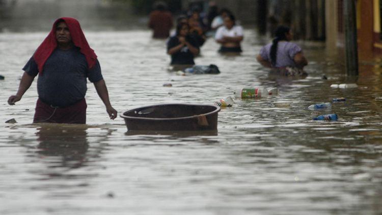 GUATEMALA- INUNDACIONES EN LA FRONTERA ENTRE MEXICO- GUATEMALA