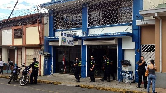 Police station in Alajuela. Image for illustrative purposes only.