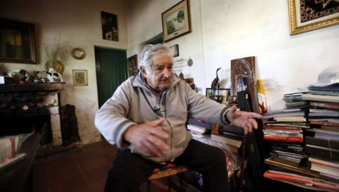 Uruguayan President Jose Mujica in his house outside of Montevideo. (Photo: EFE)