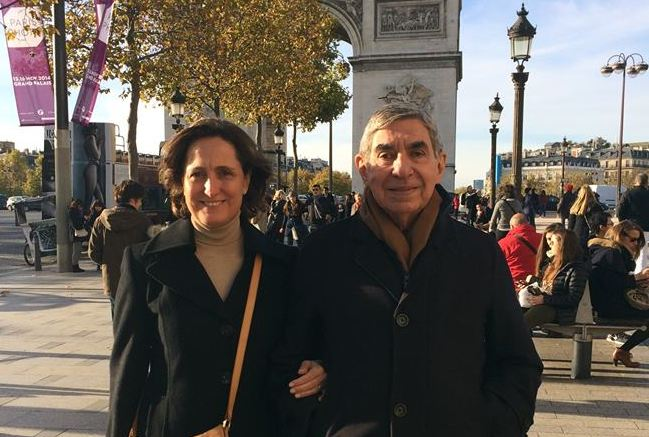 Don Oscar with his wife, in Paris, earlier this month. Photo from Facebook,