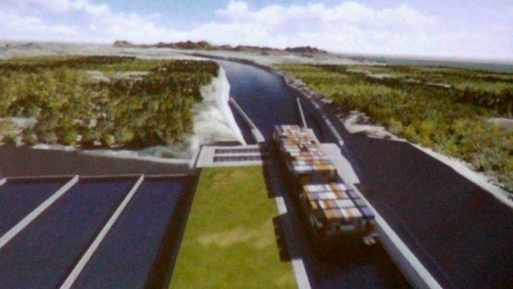 Rendering of the Gran Canal de Nicaragua