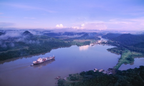 Panama Canal, which will be dwarfed by Nicaragua's new waterway. Photograph: Danny Lehman/Corbis