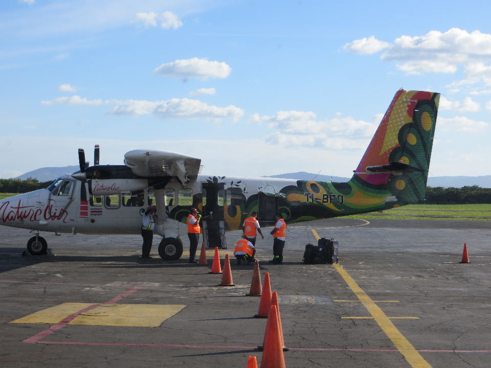 """One of Nature Air's ""Twin Otter"" planes used for the San Jose to Managua flights."""