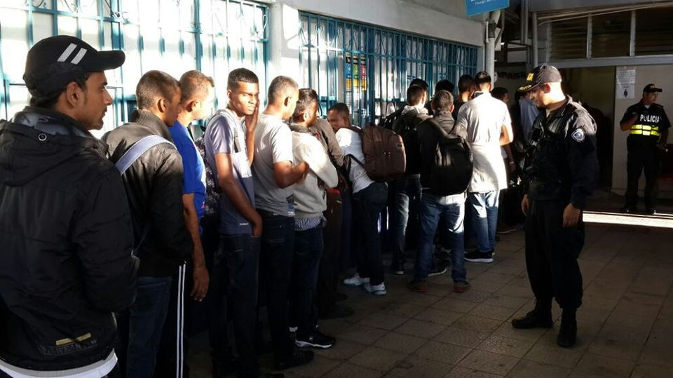 19 of the detained illegals were from Nepal, 2 from Ghana and 2 from Sri Lanka.  Photo Ministerio de Seguridad Publica (MSP)