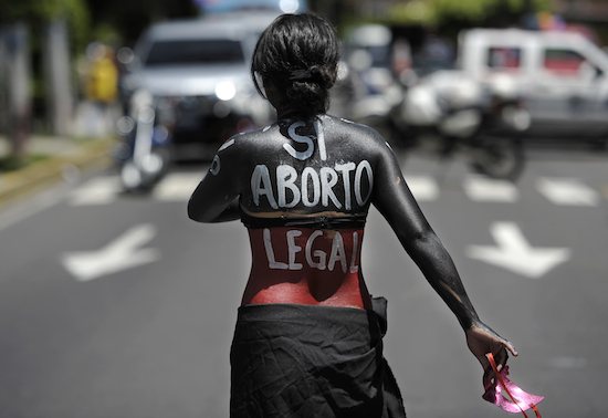 EL SALVADOR-HEALTH-ABORTION-LEGALIZATION-DEMO