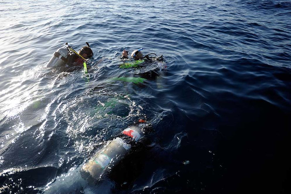 Divers were used in the rescue
