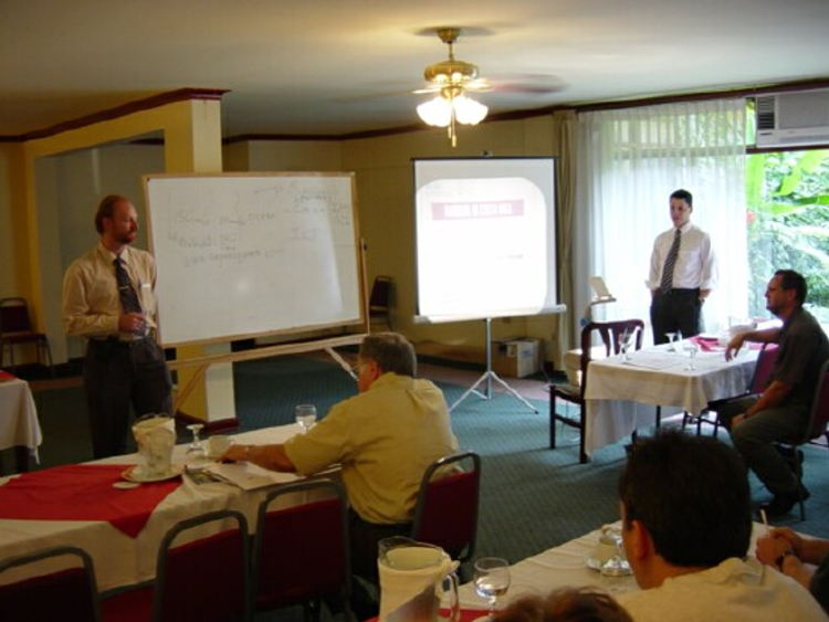 Ryan Piercy (standing, left) at an ARCR meeting. Photo arcr.net