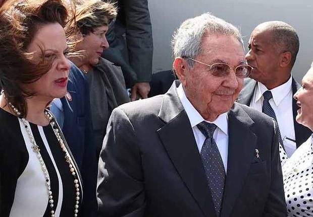 A handout picture released by Costa Rica's presidency shows Costa Rican second Vice President Ana Helena Chacon (L) welcoming Cuban President Raul Castro upon his arrival at the Santa Maria airport on January 27, 2015 Roberto Sanchez, Presidencia/AFP Read more: http://www.digitaljournal.com/news/world/fidel-castro-breaks-silence-on-us-cuba-rapprochement/article/424605#ixzz3Q6AVHSeT