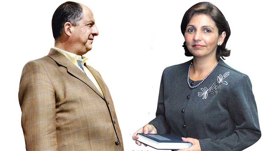 President Luis Guillermo Solís (Left) and Attorney General, Ana Lorena Brenes