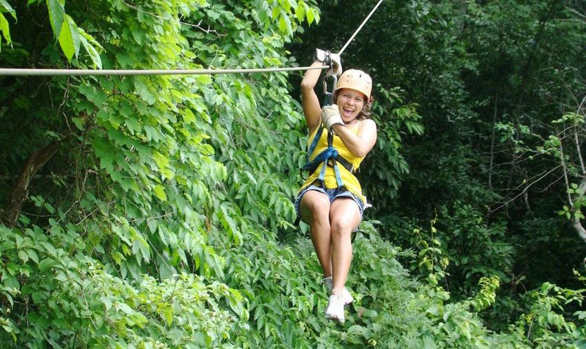 Zip lining through Costa Rica