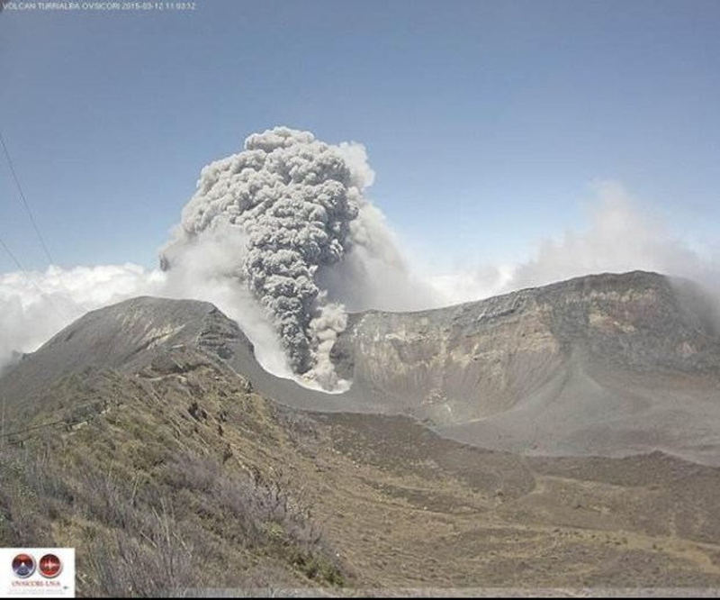 Eruption of March 12, 2015. Photo by OVSICORI