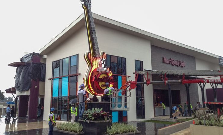 Hard Rock Café in San José, located in the Wyndham hotel