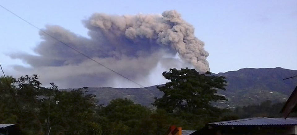 The Turrialba volcano last week