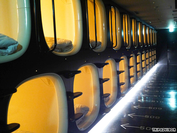 9 Hours Capsule Hotel Kyoto Inside each sleeping pod is an ambient control system, said to help you sleep better.