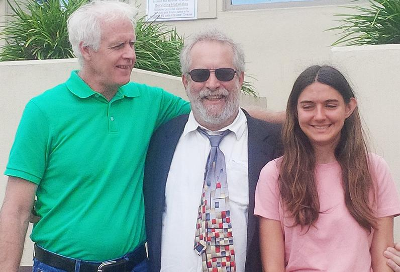 (from left) Scott Kelley, attorney Alan Rosenfeld, Mary Nunes Courtesy Alan Rosenfeld