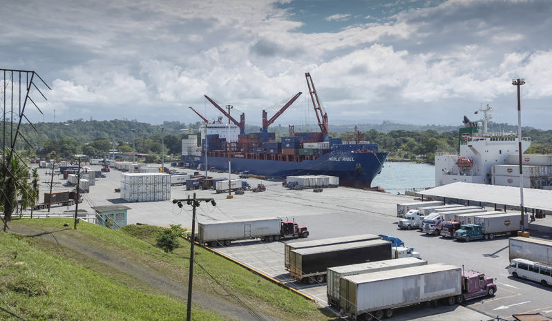 Instalaciones del Puerto de Moín, en la ciudad de Limón. Donde el 80% de las importaciones y exportaciones del país son movilizadas.