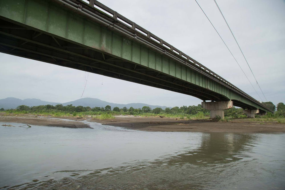 The superstructure over the Chirripo river on the Ruta 32, the San Jose - Limon highway.