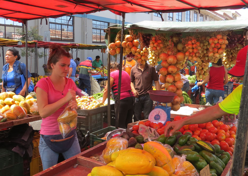 Costa Rica's rich bounty of fruits, vegetables and other farm products are on display at Downtown San Jose's Farmer's Market.